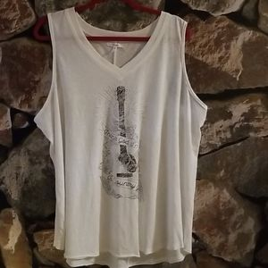 Thank God I'm A Country Girl 1X Sleeveless VNeck T